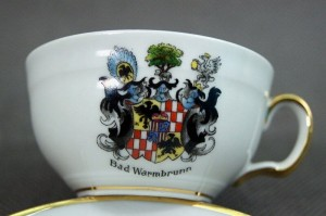 Bad Warmbrunn herb Schaffgotsch porcelanowa filiżanka