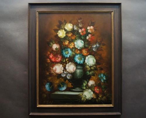 Piękny Dekoracyjny Obraz Barokowe Kwiaty R Michel