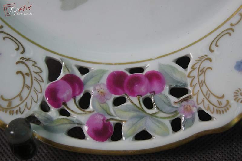 Schumann porcelana talerz deserowy z owocami 2