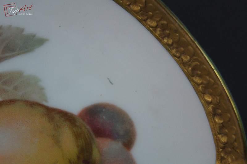 Rosenthal porcelana talerz deserowy z owocami 2