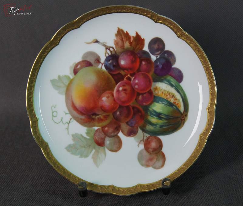 Rosenthal porcelana talerz deserowy z owocami 1