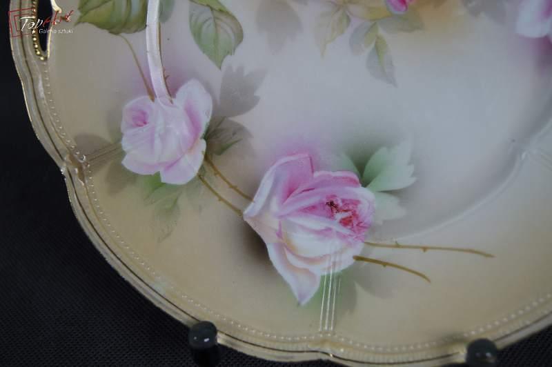 TUŁOWICE TILLOWITZ patera talerz herbaciane róże