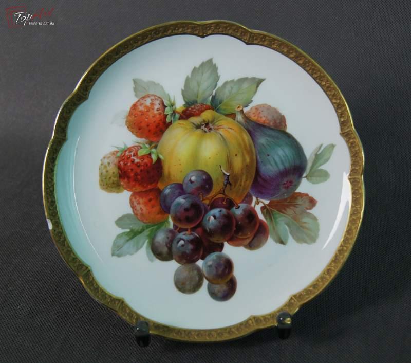 Rosenthal porcelana talerz deserowy z owocami 5